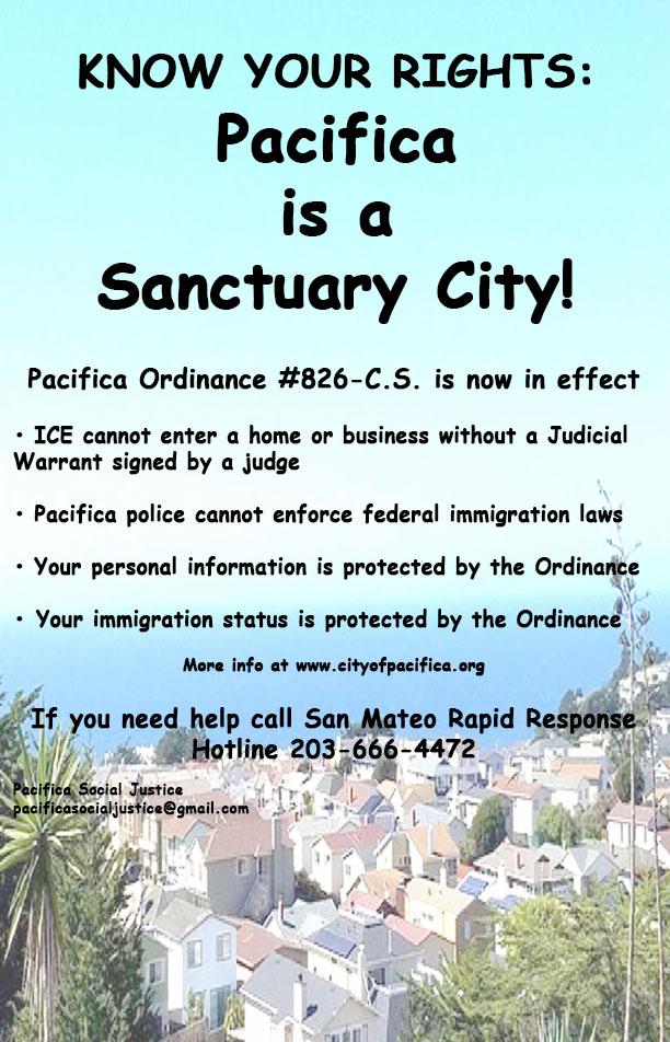 pacifica is a Sanctuary City lores